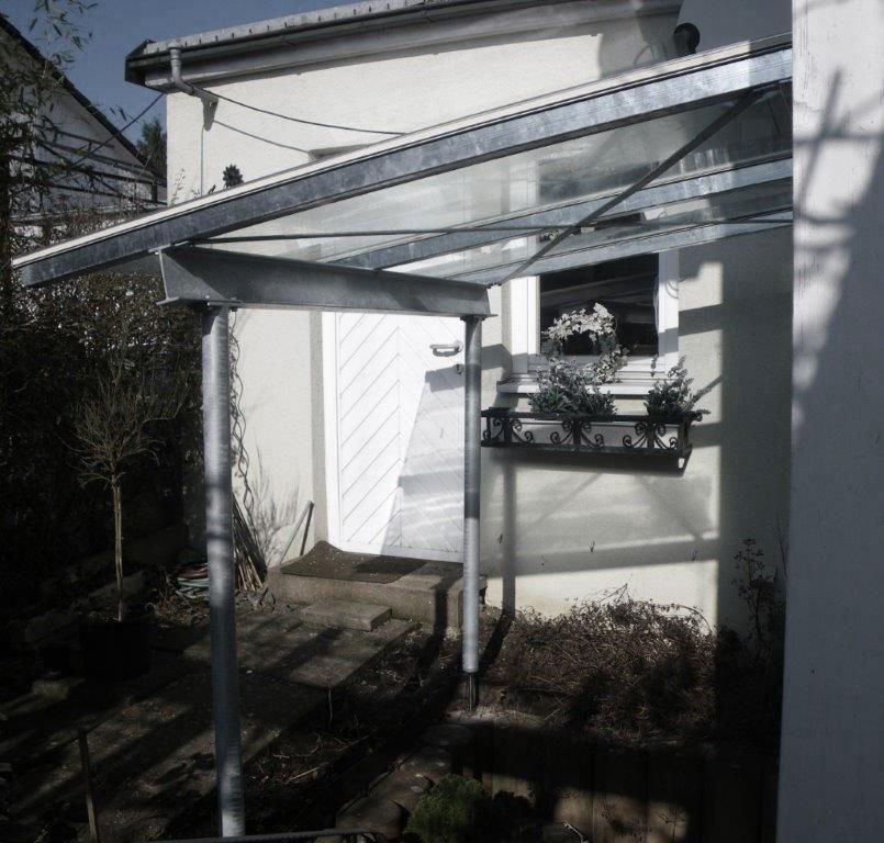 Sitzplatzüberdachung mit Glasdach
