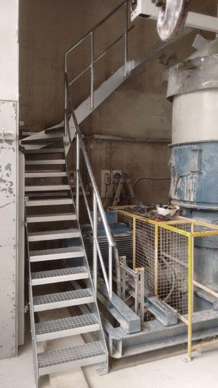 Stahltreppe Wartung